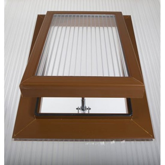 Caramel Polycarbonate Roof Vent - For 25mm Polycarbonate.