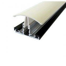 4.0m Timber Supported White Snap Down Fixing Bar 10-25mm Polycarbonate
