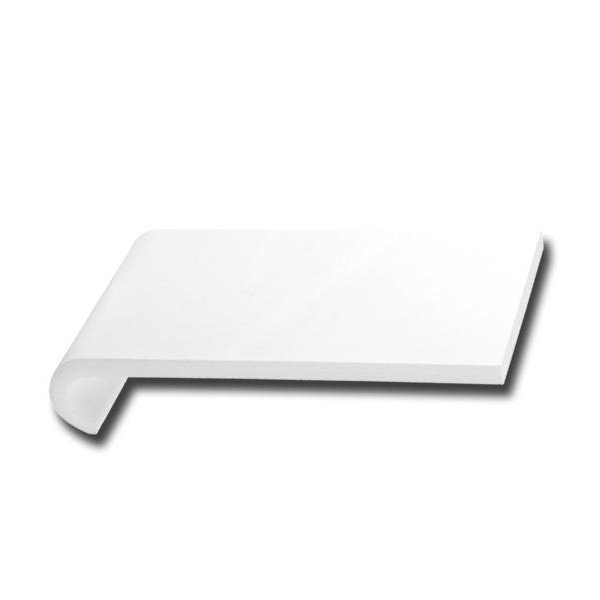White 160mm x 1.25m Hockey Bull Nosed Internal Cill with end caps