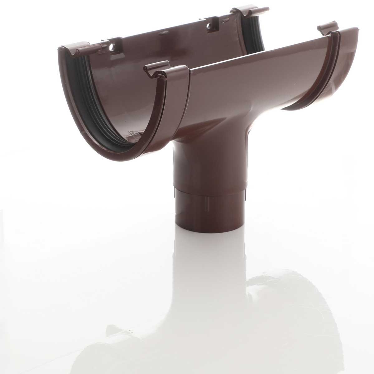 Brown deep flow Guttering