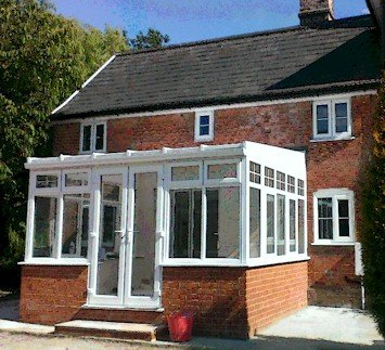 Lean-to Conservatory on Dwarf Walls View from Outside