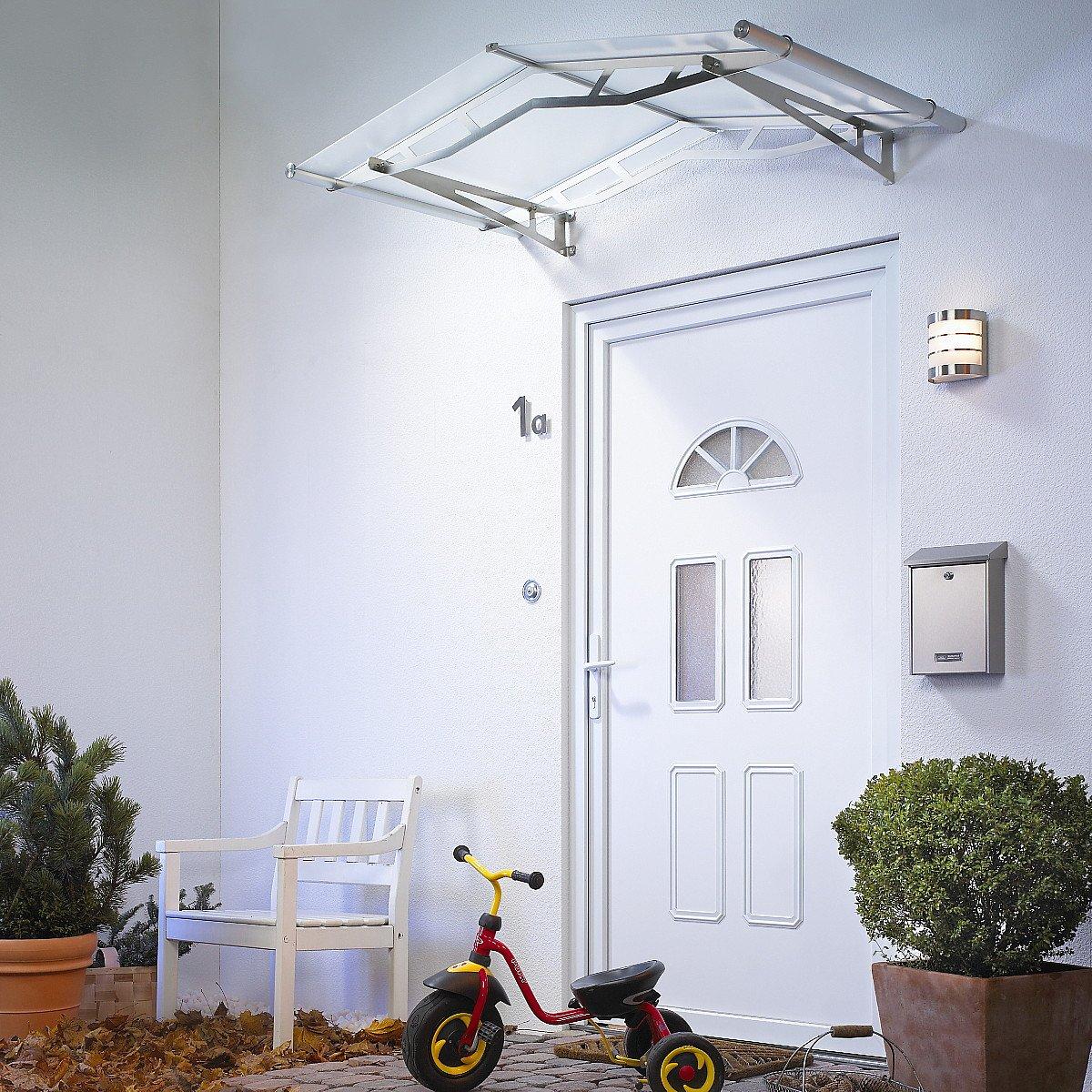 Gable Door Canopy White