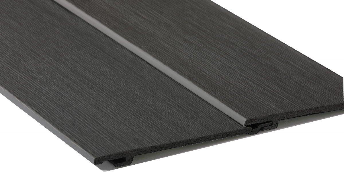 Graphite grey natural wall cladding Durasid