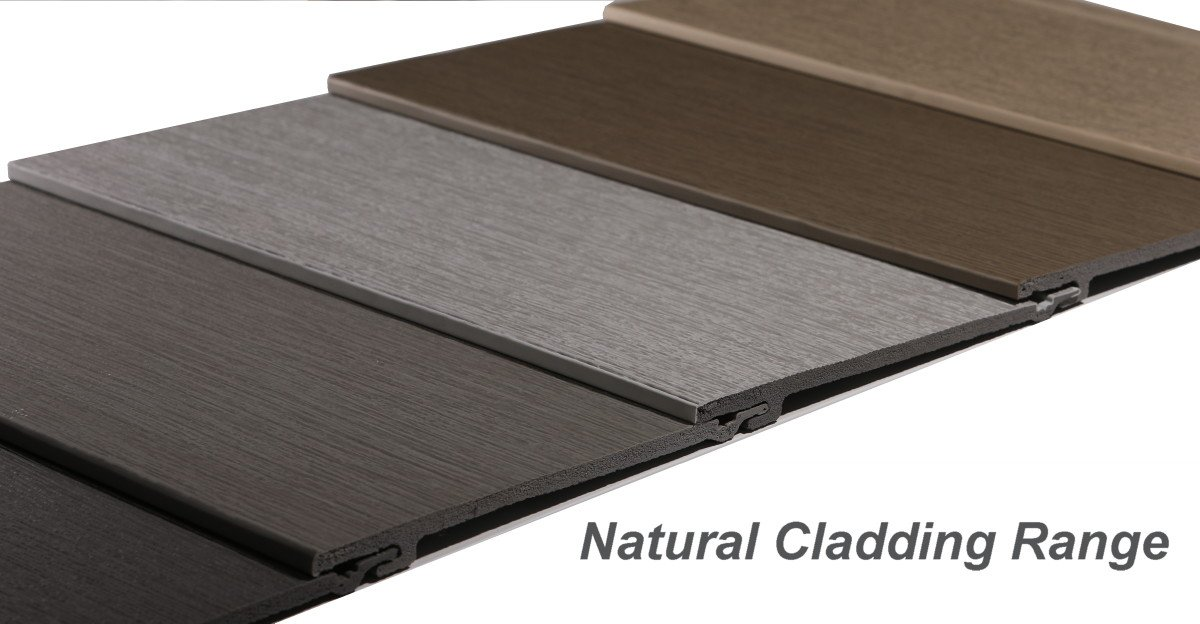 Natural wall cladding colour options
