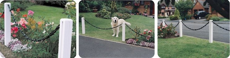 Garden Chain Link Plastic Fencing