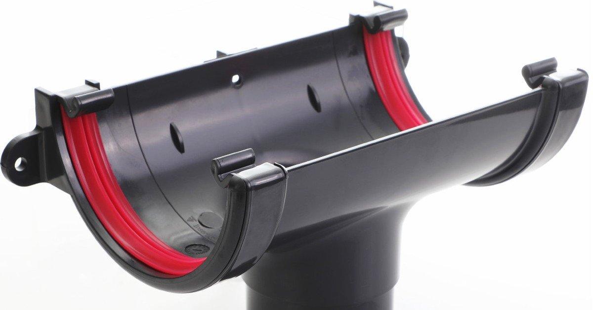 Anthracite round guttering high quality finish 112mm standard half round gutter