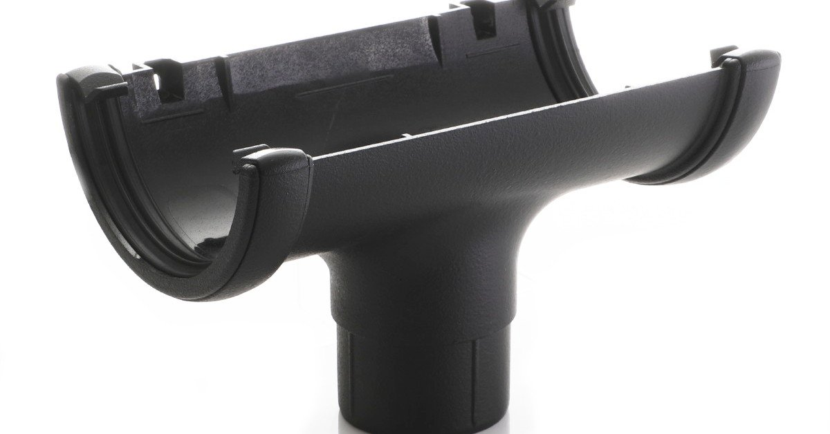 Cast iron guttering imitation plastic coated PVC iron effect
