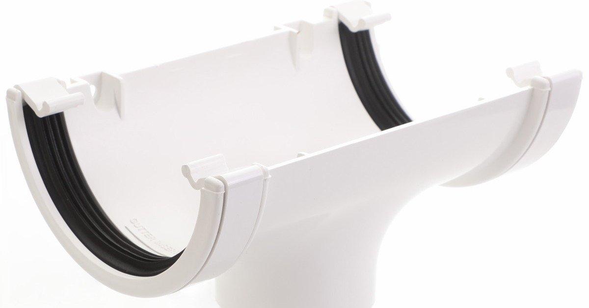 White round guttering 112mm standard half round shape