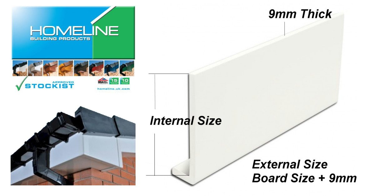 6-inch white fascia board with a return leg to form the corner