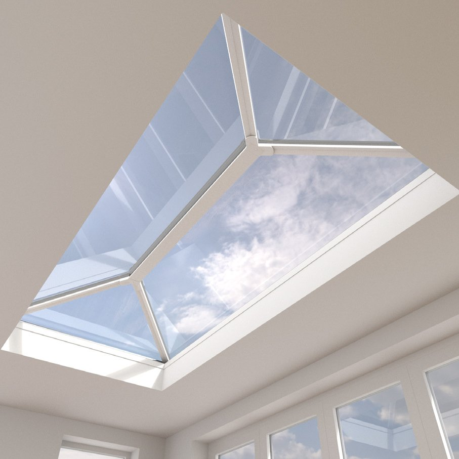 Aluminium roof lantern made to measure glass and frame.