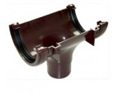 Brown 112mm Half Round Guttering