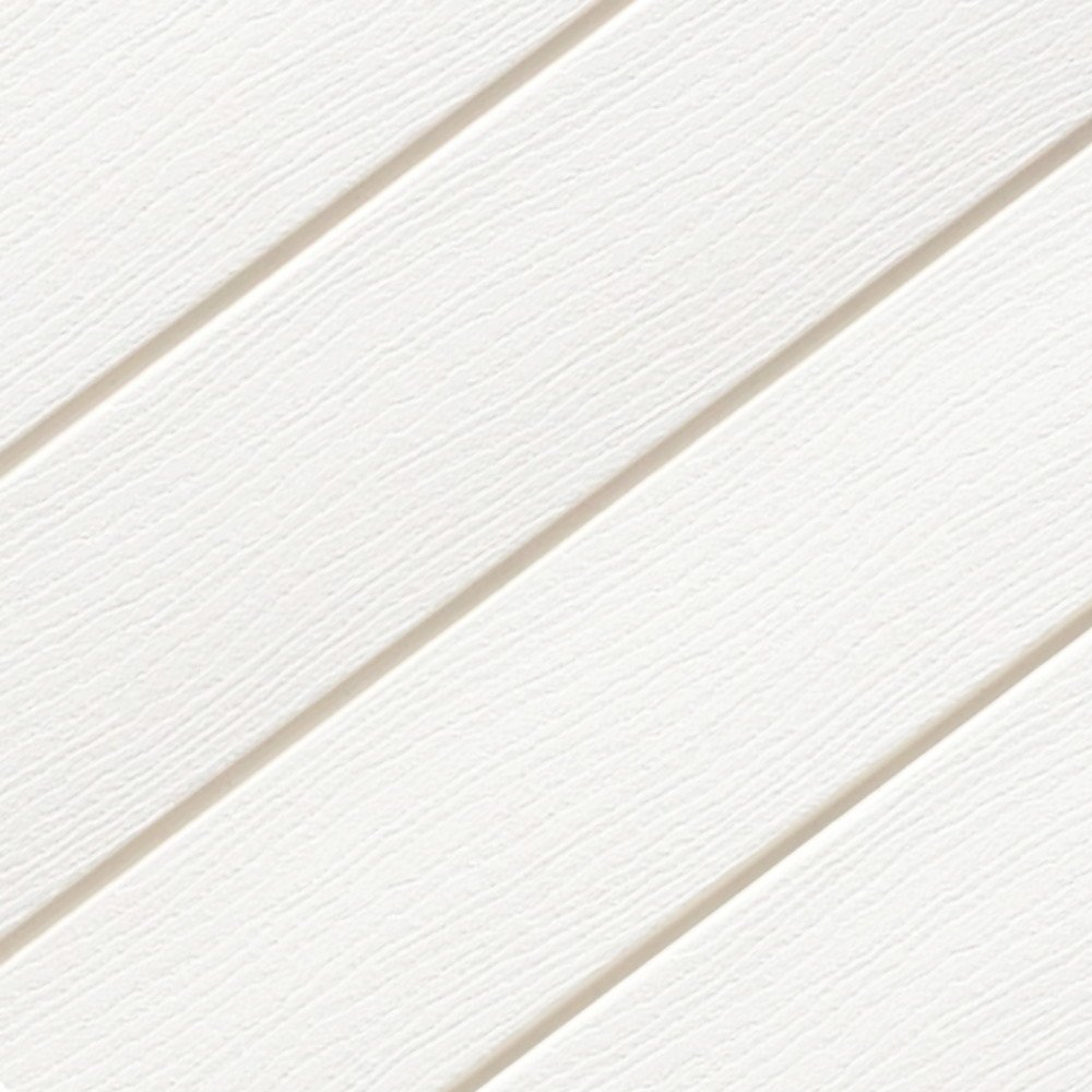 White Cladding Embossed Wood effect