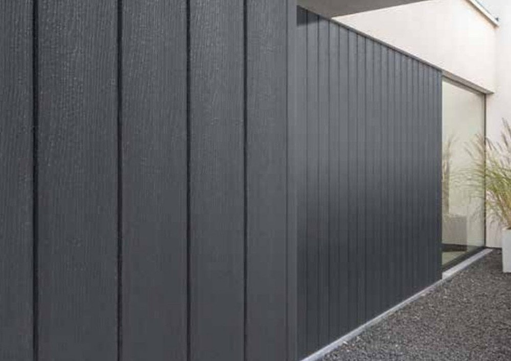 Dark Grey Vertical Wall Cladding