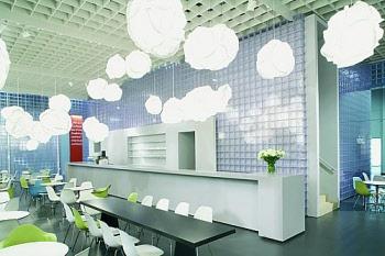 showroom of acrylic blocks